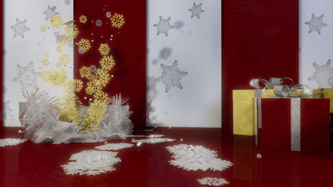 Christmas Background With Camera Move Animation