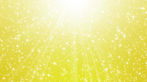 Falling gold particles in light rays (short ver.)