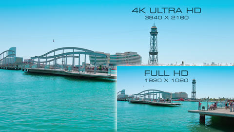 Difference between television screens resolution 4K Ultra HD and Full HD Live Action