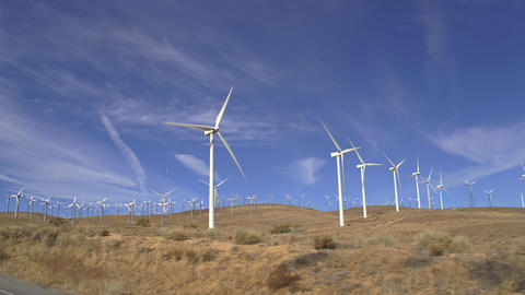 Large Wind Farm California ビデオ
