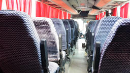bus travel empty seats in cabin Footage