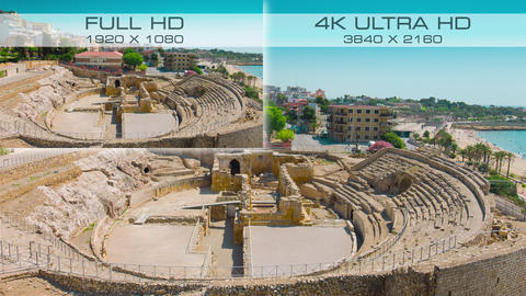 Compare video standards 4K Ultra HD vs Full HD Live Action