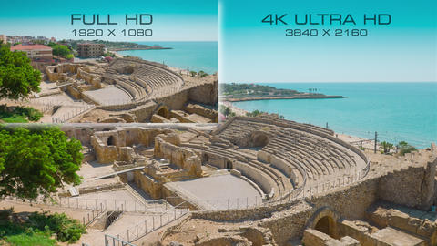Comparison digital television standards 4K Ultra HD vs Full HD Live Action
