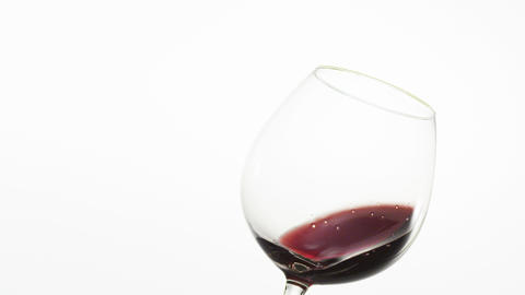 Red Wine in a Glass Footage