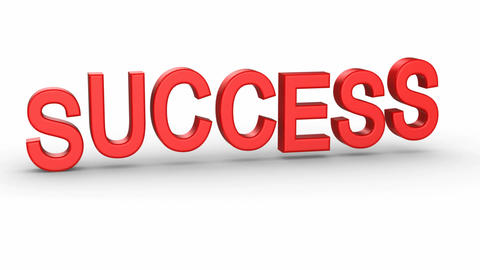 "Jumping letter forms the word ""success"" Animation"