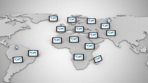 Global Communication Animation