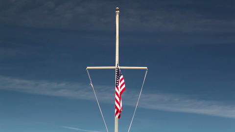 American flag waving in the wind Image