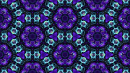 Colorful modern abstract ornamental kaleidoscope - blue pattern Animation