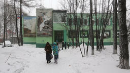 Administration building of Kronotsky Nature Biosphere Reserve on Kamchatka Footage