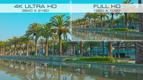 Difference between video formats 4K Ultra HD and Full HD Live Action