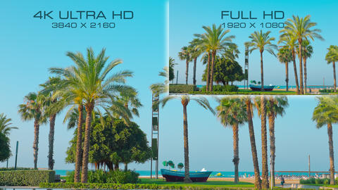 4K Ultra HD vs Full HD comparison tv resolution Live Action