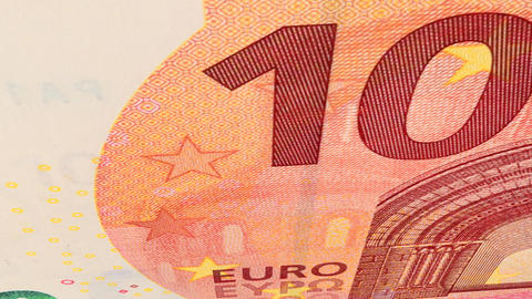 Note of 10 euros Animation