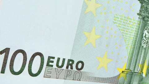 Note of 100 euros Animation