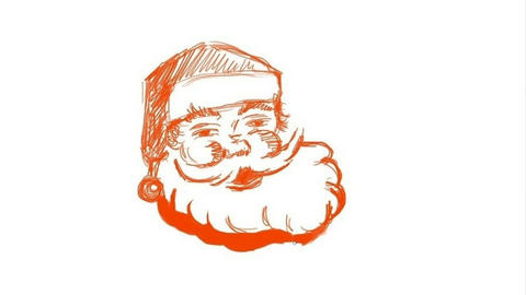 Process of drawing of Santa Animation
