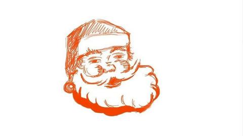 Process of drawing of Santa Animation