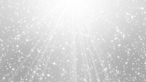 Falling silver particles in light rays (short ver.)