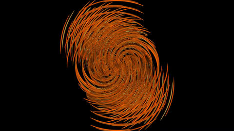 Orange abstract gritty rotating element builging ball. Clue in grunge style Animation
