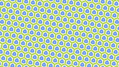 Moving green and blue triangle patterns in kaleidoscope style, abstract backgrou CG動画素材