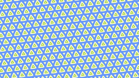 Moving green and blue triangle patterns in kaleidoscope... Stock Video Footage