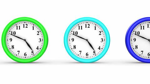 Colored Clocks Animation