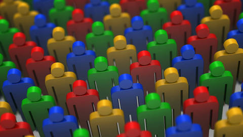Colored Crowd Animation