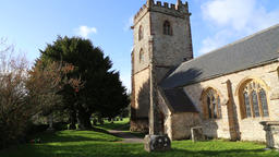 St Mary and All Saints church Broomfield Somerset UK Footage