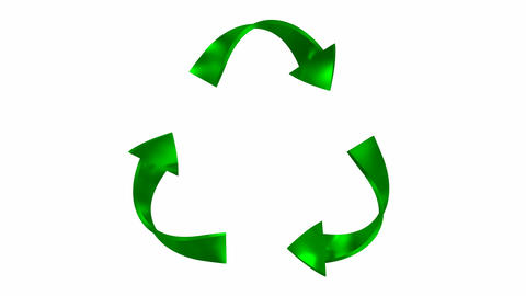 Animated Recycling Symbol Animation