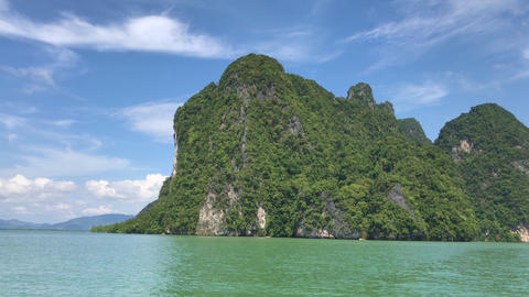 Beautiful Tropical Landscape, Island In Thailand Footage