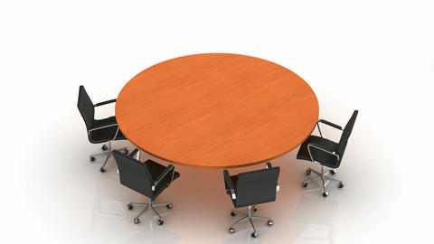 brown Round Table Animation