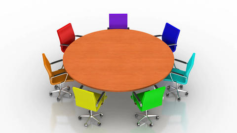 Round brown Table Animation
