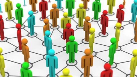 Growth of Social Network CG動画