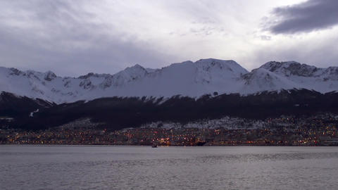 Arriving To Ushuaia, The Southernmost City In The World Footage