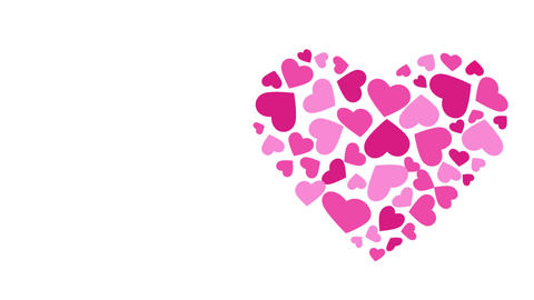 Valentine's Heart by Hearts Animation. Motion graphic HD Animation