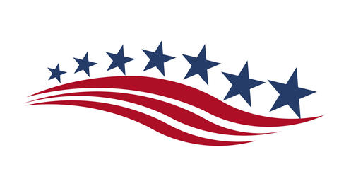 America Stars and Stripes Motion Graphic Animation
