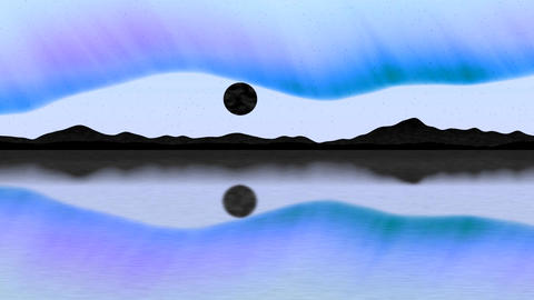Arctic pole generated seamless loop with inversion filter Animation