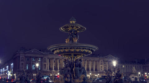 Paris, France - Hyperlapse - Place de la Concorde Footage