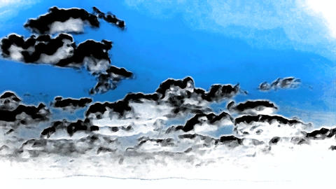 Clouds Timelapse with inversion filter Footage