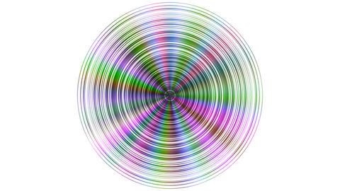 Metal disc with color reflections seamless loop with inversion filter Animation