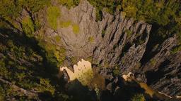 Beautiful secret tropical lagoon, aerial view. Tropical island Footage
