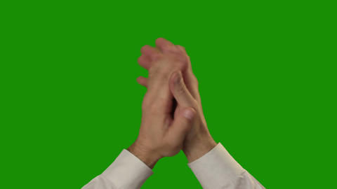 Applause on the green Chroma Key Footage