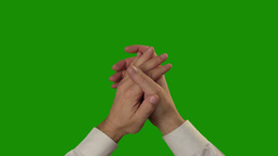 Applause on the green Chroma Key Stock Video Footage