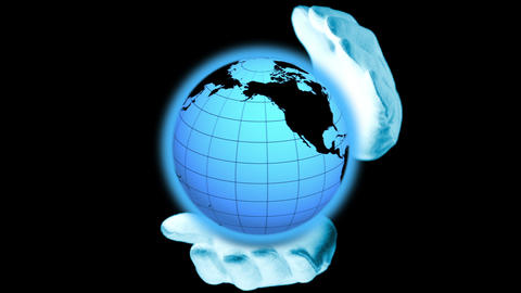 Blue Planet In Caring Hands stock footage