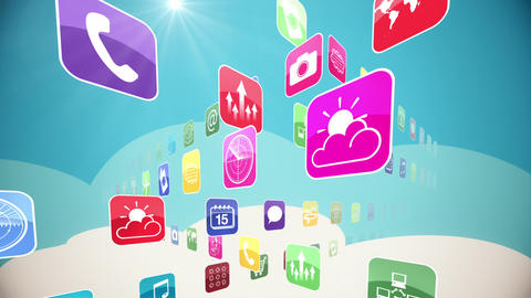 World of Apps Stock Video Footage