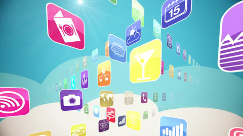 World Of Apps stock footage