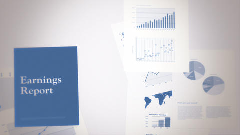 Earnings Report Concept Seamless Background Loop Stock Video Footage