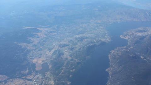 Aerial View Of Lake Okanagan Stock Video Footage
