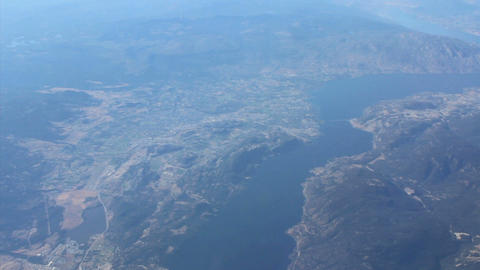 Aerial View Of Lake Okanagan Footage
