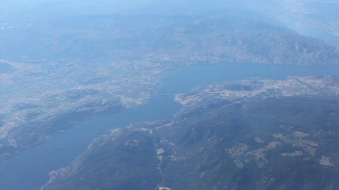 Aerial View Of West Kelowna British Columbia Stock Video Footage