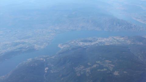 Aerial View Of West Kelowna British Columbia Footage