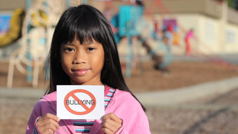 Anti Bullying Message Footage